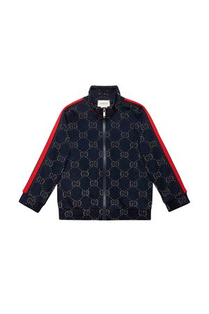 Blue Gucci kids sweatshirt  GUCCI KIDS | -108764232 | 571390XJBEJ4048