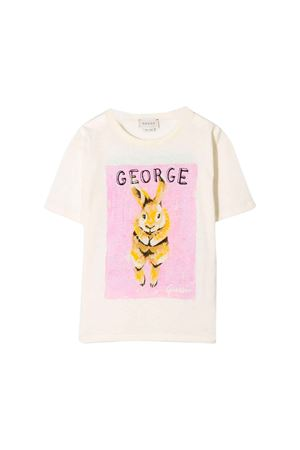 White Gucci kids t-shirt  GUCCI KIDS | 8 | 580991XJBKC9756